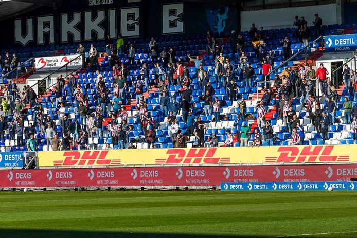 Bij Willem II - RKC Waalwijk afgelopen seizoen waren slechts 2500 toeschouwers toegelaten in verband met coronamaatregelen.