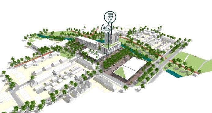 Het plan Hartje Barrier gezien vanaf de Fransebaan in de Achtse Barrier Eindhoven.