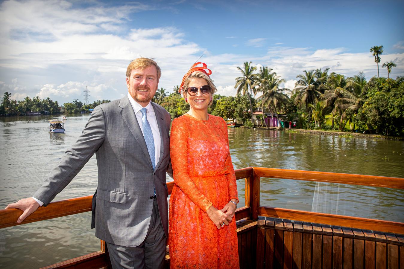 Koning Willem-Alexander en koningin Máxima tijdens het staatsbezoek aan India.