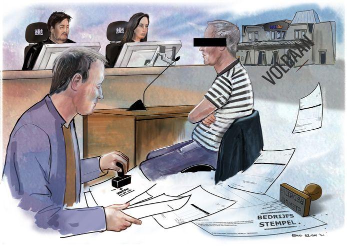 Rechtbanktekening Eric Elich