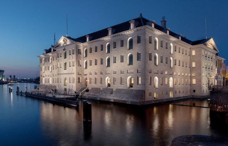 Het Agathe Quartet speelt in het Scheepvaartmuseum. Beeld Eddo Hartmann