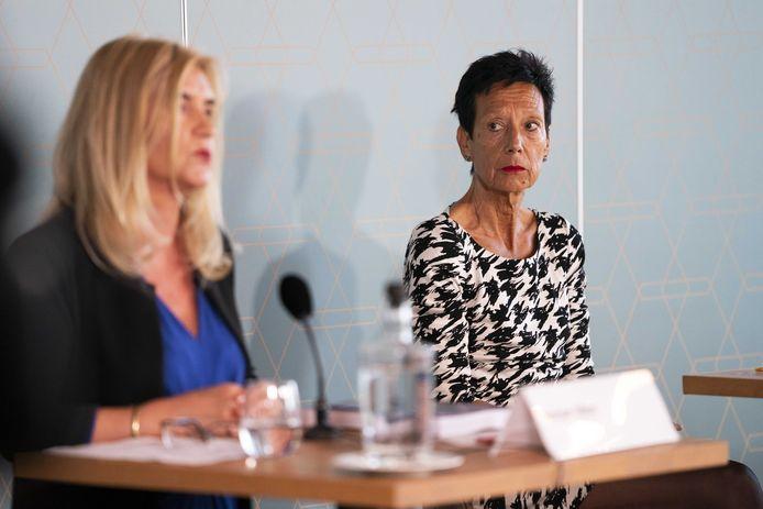 Voorzitter Monique Kempff (rechts) van de KNGU.