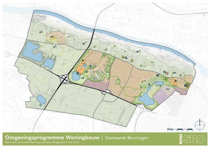 De plannen voor bouw in Beuningen.
