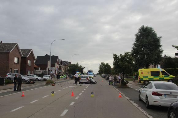 De aanrijding gebeurde op de Oudenaardsesteenweg in Bambrugge.