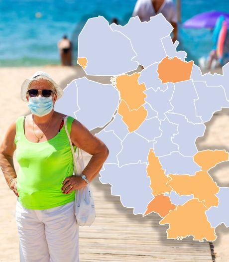 KAART   Optimisme ondanks kleine stijging besmettingen: veel gemeenten in regio opnieuw op nul