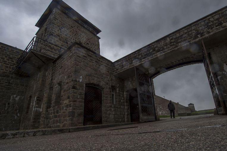 De hoofdingang van het voormalige concentratiekamp Mauthausen. Beeld anp