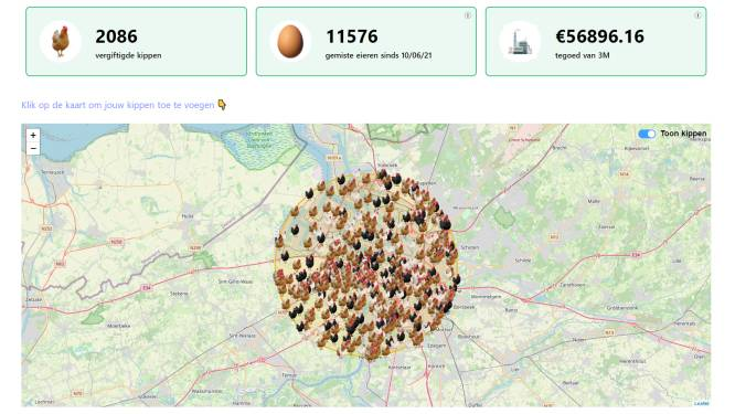 Ludieke website telt hoeveel 'eikes' er al verloren gingen door PFOS-vervuiling