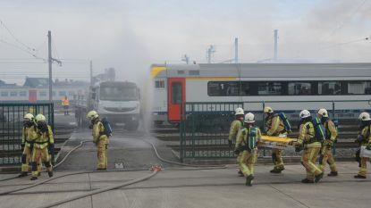 Zwaar treinongeval nagebootst als grote test