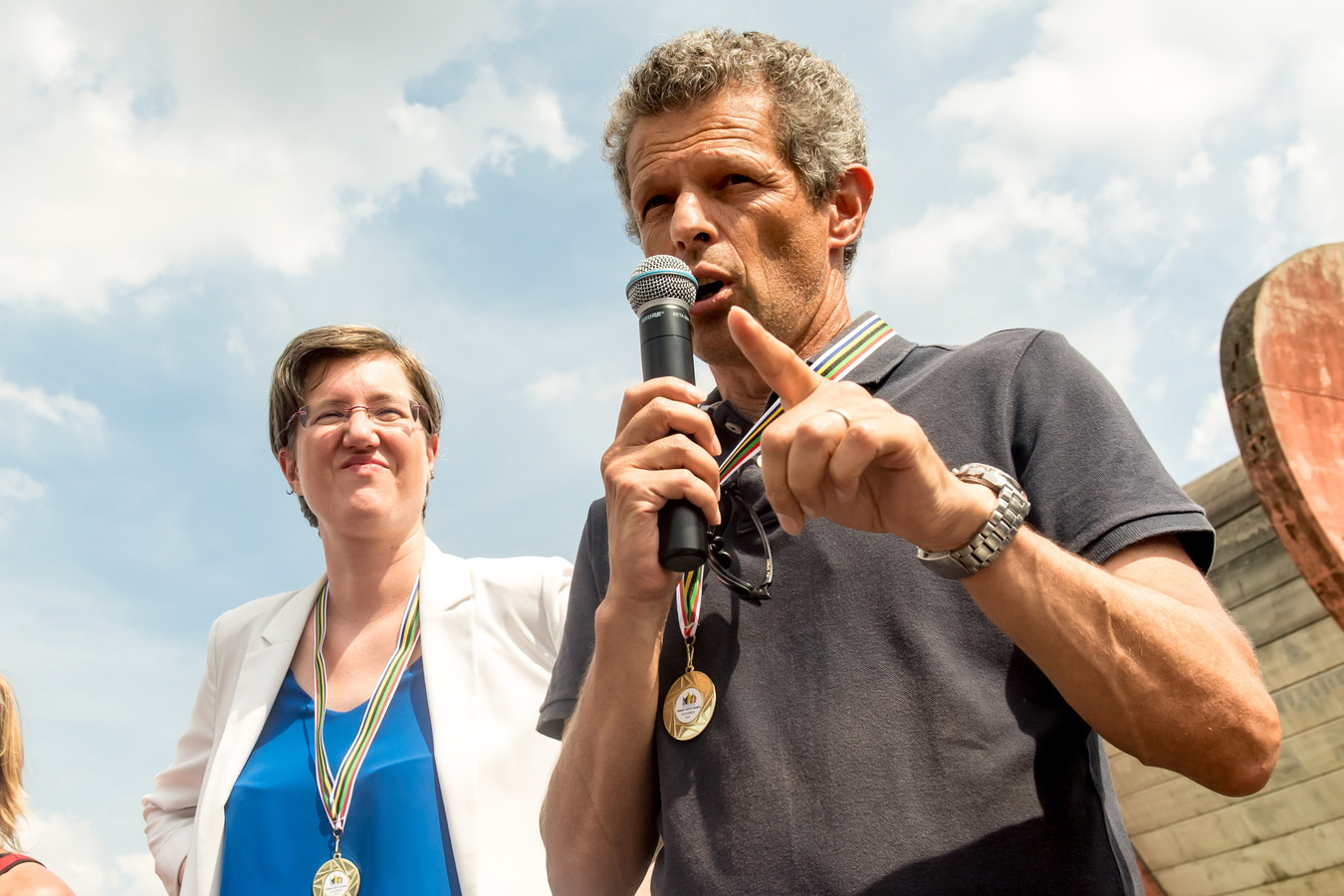 Catherine Moureaux et Jacques Borlée