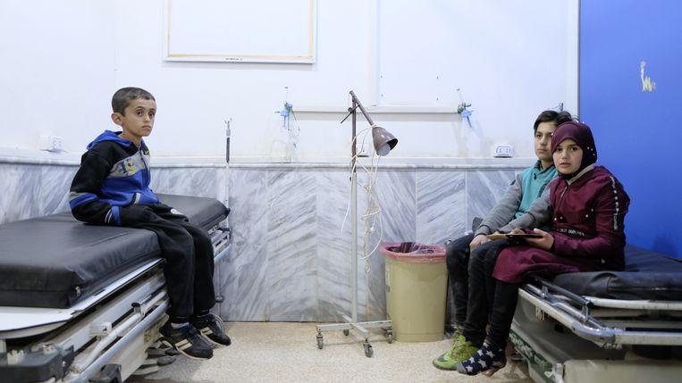 Bab al Hawa hospital (vlak tegen turkse grens, noord-idlib), maart 2020 Beeld Melvyn Ingleby