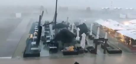 Apocalypse à la Côte: des terrasses emportées par le vent, les clients s'échappent juste à temps