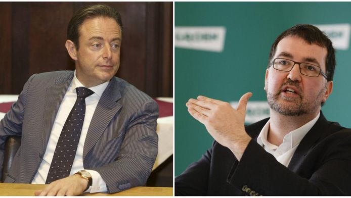 Bart De Wever (N-VA) en Wouter Van Besien (Groen).