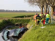Automobilist zwaargewond als hij frontaal op boom botst en in sloot belandt in Nieuwendijk