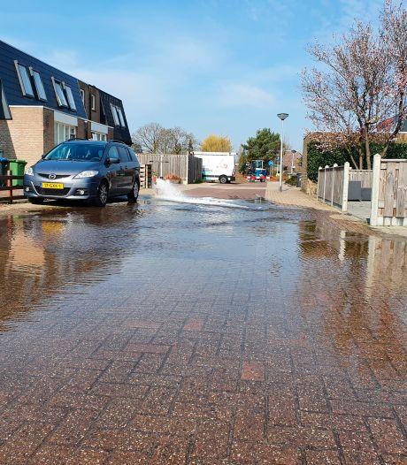 Werkzaamheden zorgen voor waterleidinglek in Lelystadse wijk