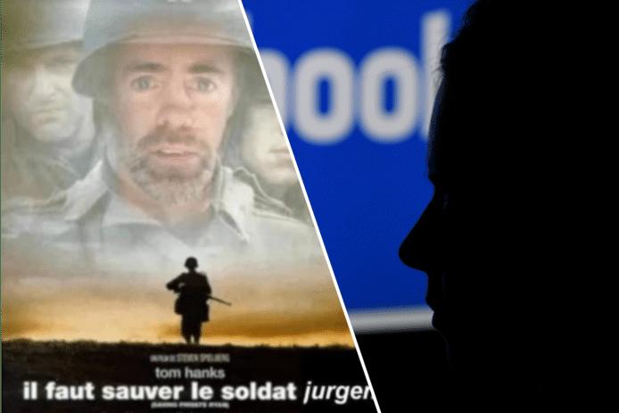 In de Facebook-groep 'Als 1 achter Jürgen' werden steunbetuigingen gedeeld, zoals een fotomontage van de (Franse) filmposter van 'Saving Private Ryan'.