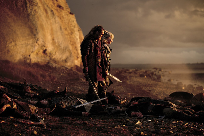 Een beeld uit de Nederlandse film Redbad van regisseur Roel Reiné die 28 juni in première gaat.