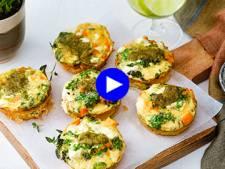 Ennuyeuse, votre lunch-box? Pas avec ces muffins aux légumes et feta vite prêts, originaux et sains