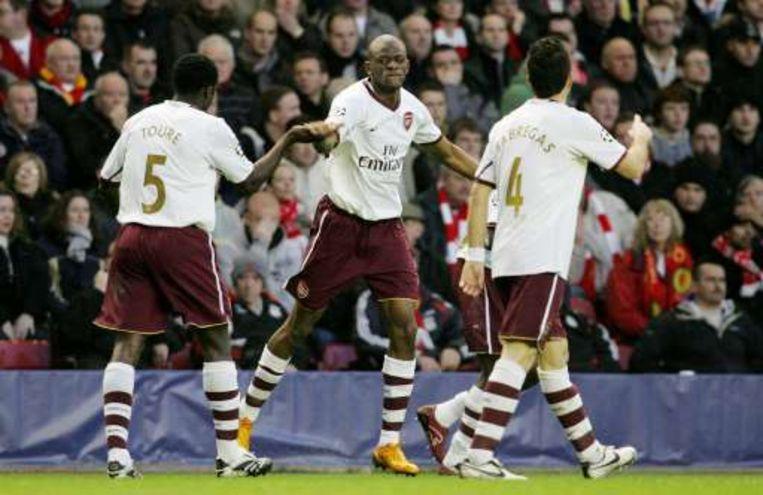 Diaby bracht Arsenal verdiend op voorsprong. Beeld UNKNOWN