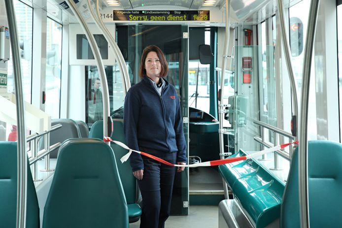 De trambestuurder Kim Bloemendaal (34)