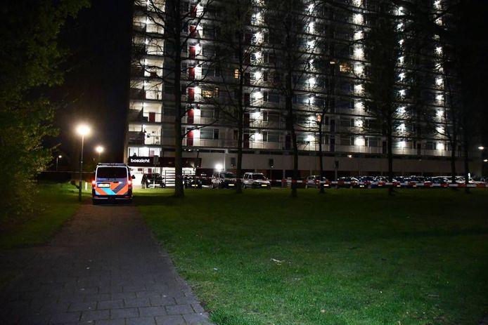 Politie bij de Boszicht in Goes.