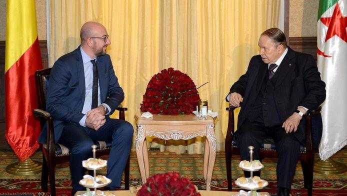 Charles Michel et le président algérien Bouteflika.