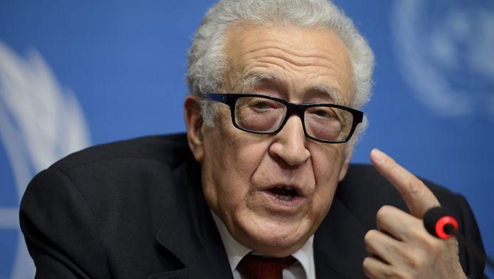 De speciale VN-gezant voor Syrië, Lakhdar Brahimi.