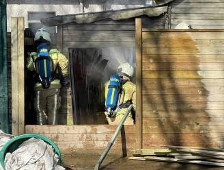 Buren gaan brand in tuinhuis samen te lijf