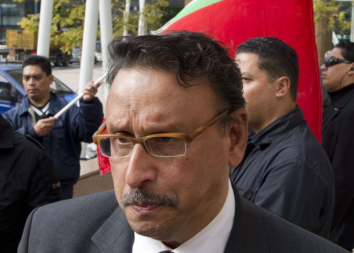 John Wattilete, president van de regering in ballingschap van de Republiek der Zuid-Molukken (RMS)