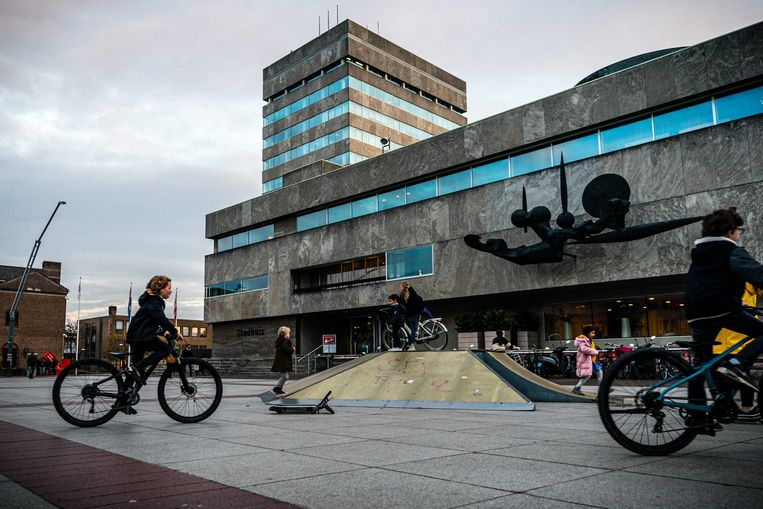 Het Stadhuis op het Stadhuisplein in Eindhoven.  Beeld ANP