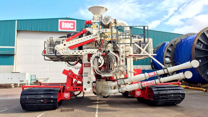 IHC's Hi-Traq Mk 1, een ultramodern sleuvengraafvoertuig, moet dienst gaan doen in de Golf van Mexico.