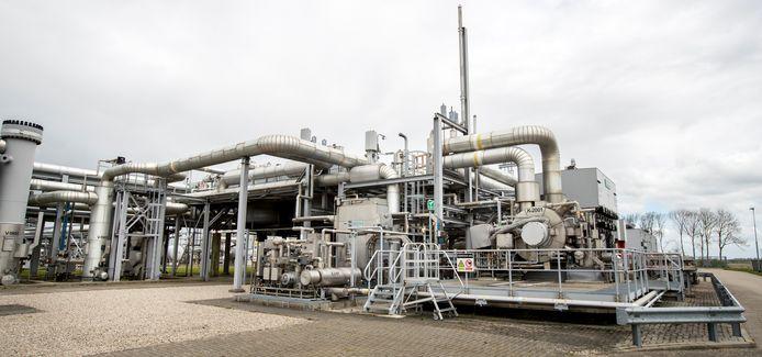 Foto ter illustratie. Installatie op het gasveld Loppersum.