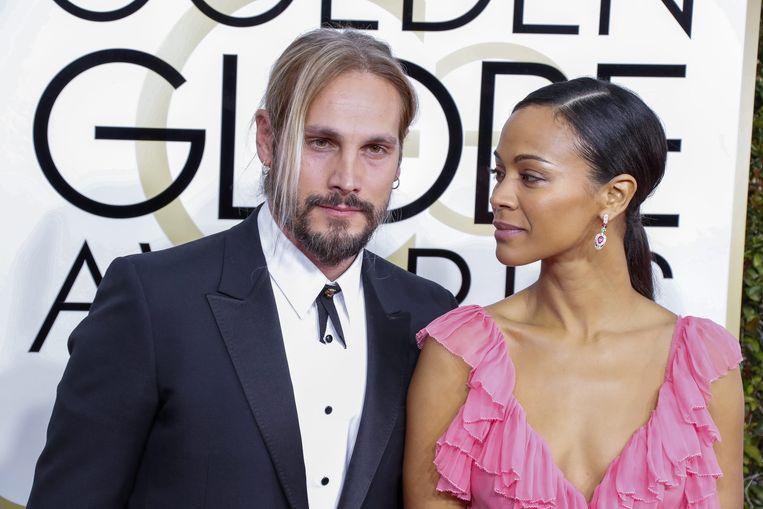 Zoe Saldana met haar echtgenoot Marco.