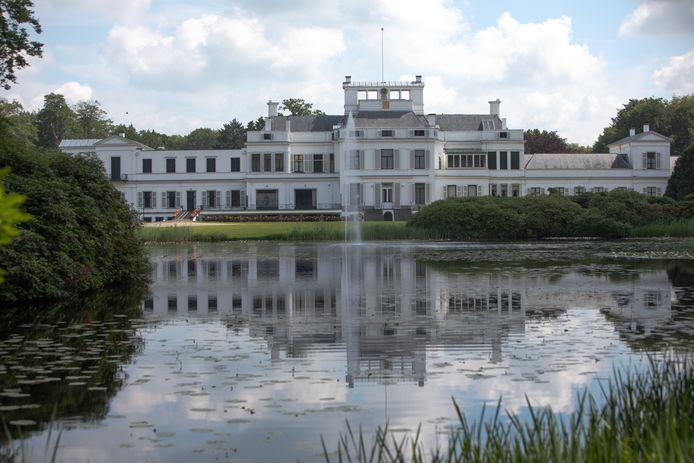 Paleis Soestdijk, gezien vanuit de tuin van het paleis.