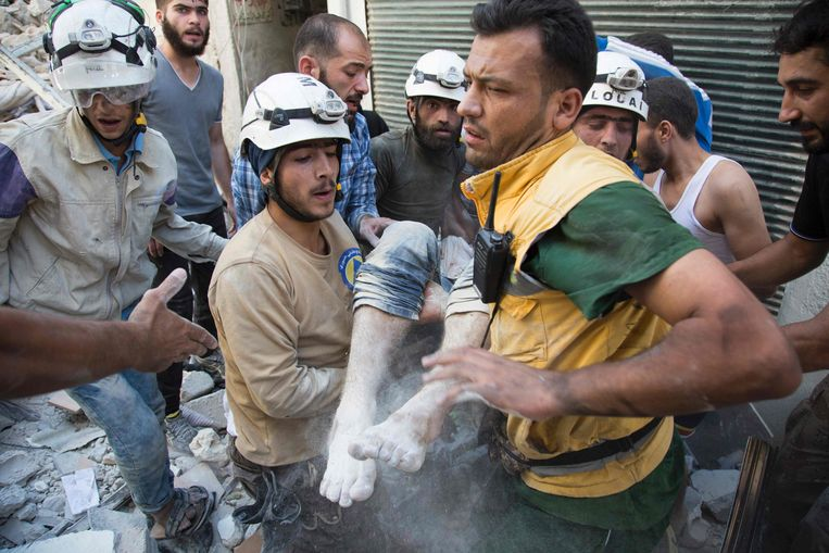The Syrian Civil Defense (White Helmets) Beeld AFP