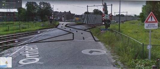 Zo moet een 'schuine' oversteek ongeveer komen te liggen.