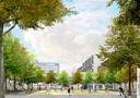 Het centrale plein (alleen als de parkeergarage verdwijnt).
