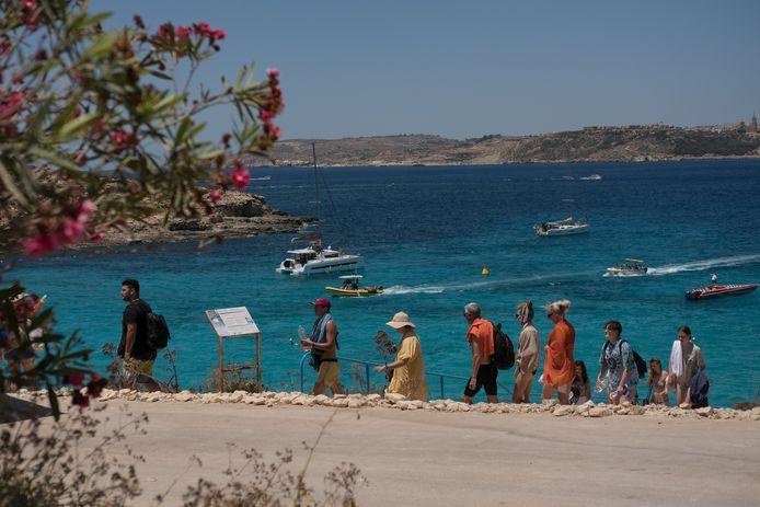 Een strand op Malta.