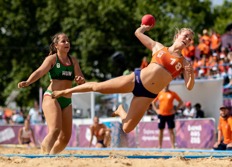 Nyah Metz van de Nederlandse ploeg.