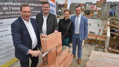Eerste steen voor 24 sociale woningen in centrum