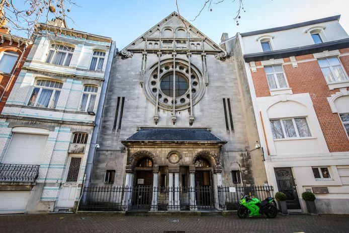 De Joodse synagoge ligt op het Filip Van Maestrichtplein in de Oud Hospitaalwijk.