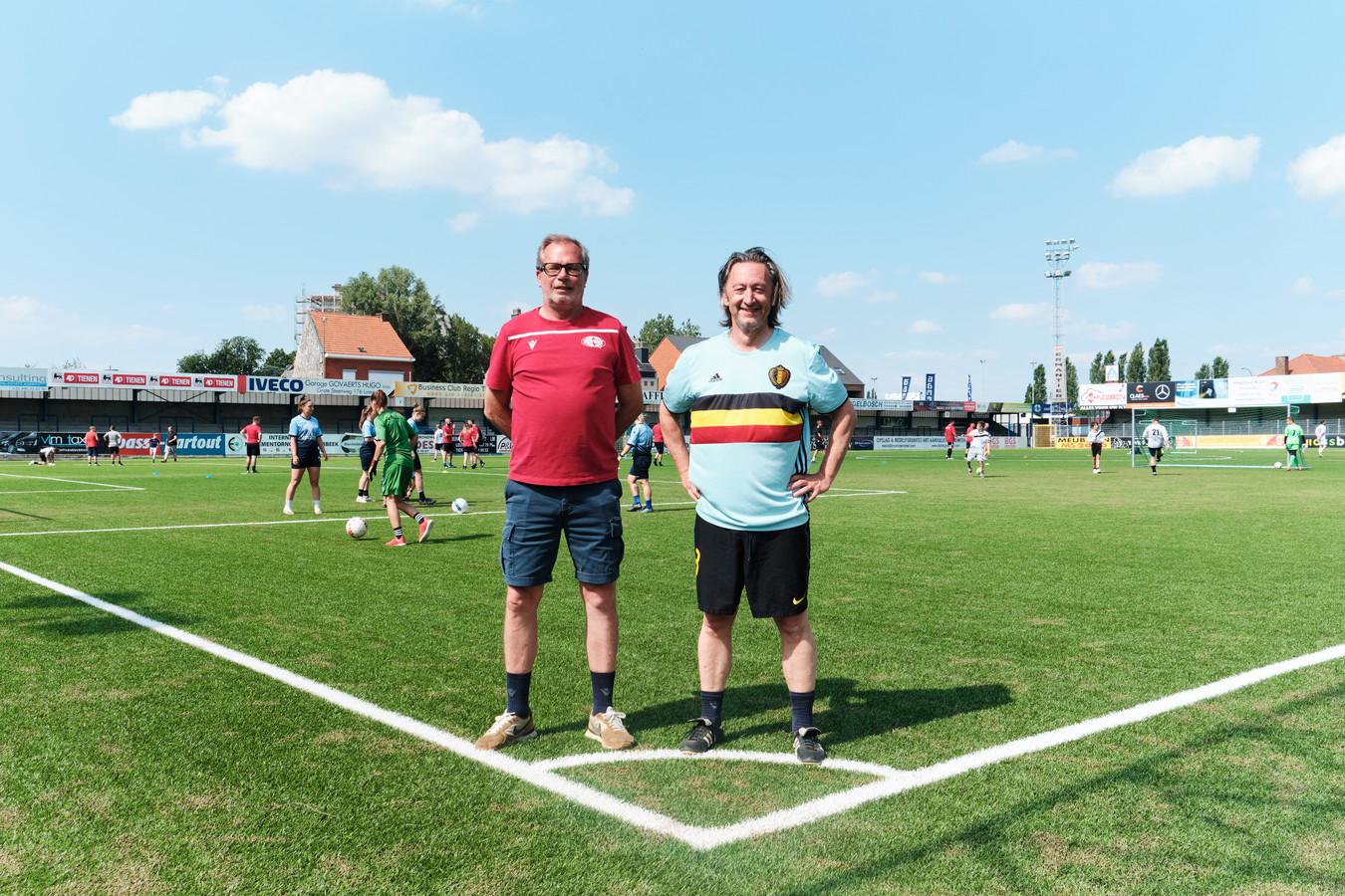 Philippe Verbiest, jeugdmanager, en Peter Den Ruyter, voorzitter jeugd werking bij KVK Tienen.