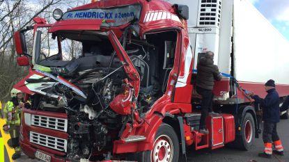 """Vrachtwagen rijdt in op file E313 in Massenhoven: """"Mijd de omgeving"""""""