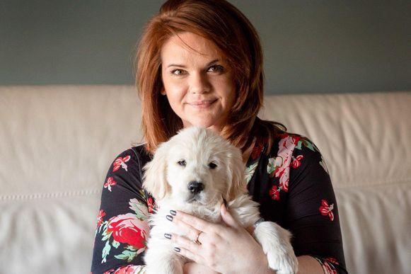 Ellen Cassimon mocht vandaag puppy Lex verwelkomen.