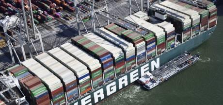 Ook tientallen 'Twentse containers' op blokkeerschip Ever Given: 'Bonus dat lading alsnog komt, ondanks extra kosten'