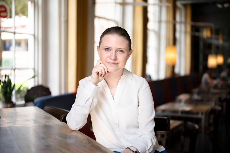 Nienke Luijckx (17): 'Ondanks de nare ervaringen van afgelopen jaar, lijkt leraar zijn me nog steeds een prachtberoep'. Beeld Bram Petraeus