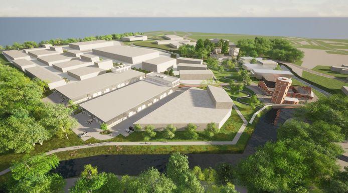 Op de oude site van papierfabriek Catala zijn de sloopwerken gestart. Back tot the Future zal er een modern bedrijvenpark van maken.