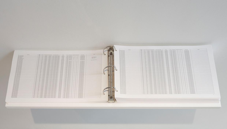 De Turkse kunstenares Banu Cennetoğlu publiceert al bijna twintig jaar lijsten van de vluchtelingen die gestorven zijn onderweg naar Europa.  Beeld Banu Cennetoğlu
