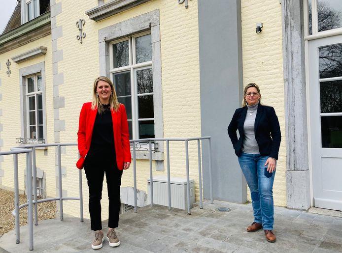 Sofie Vandeweerd, bourgmestre de Dilsen (à gauche)