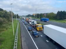 Forse vertraging door lange files op A1 en A35 na ongeval bij Borne