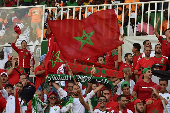 Fans in het stadion zaterdagavond.